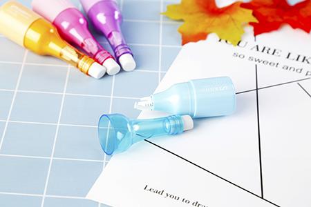 乐普升立体果汁瓶造型修正带:橡皮+修正带设计