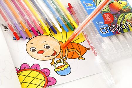 小学大象旋转蜡笔